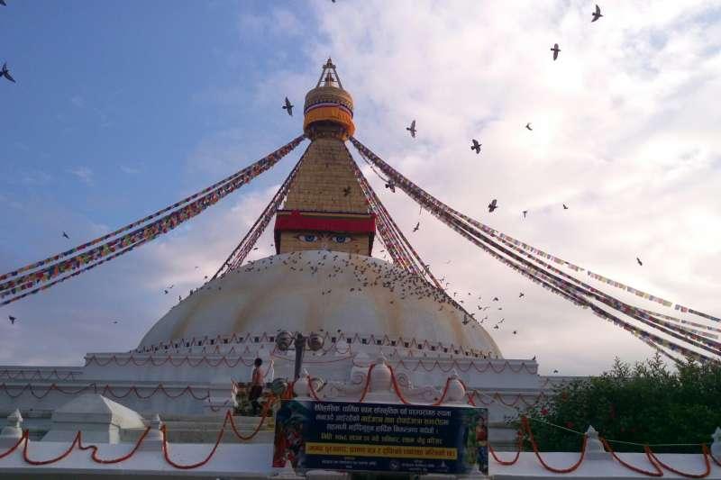 加德滿都地標大塔--Boudhanath Stupa(圖/謝幸吟提供)