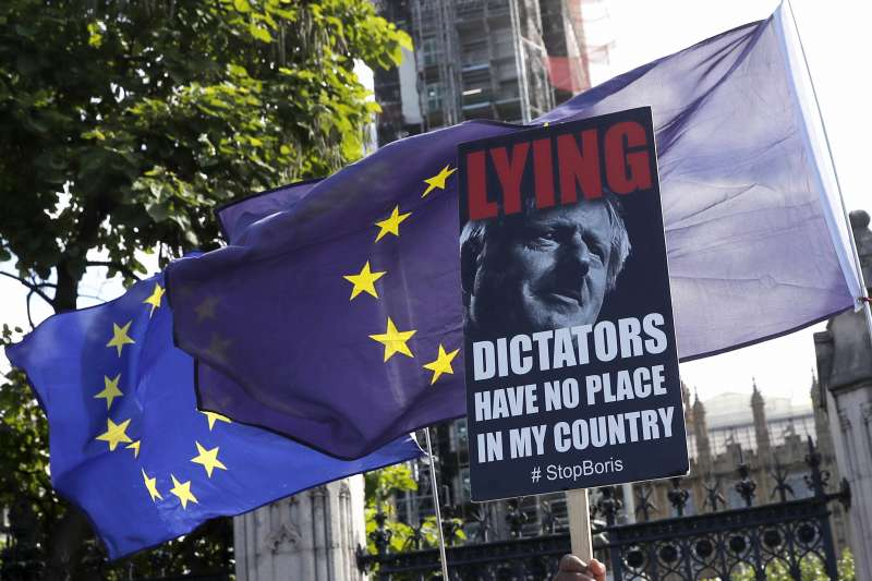 力阻無協議脫歐:英國首相強森不被國會信任(AP)