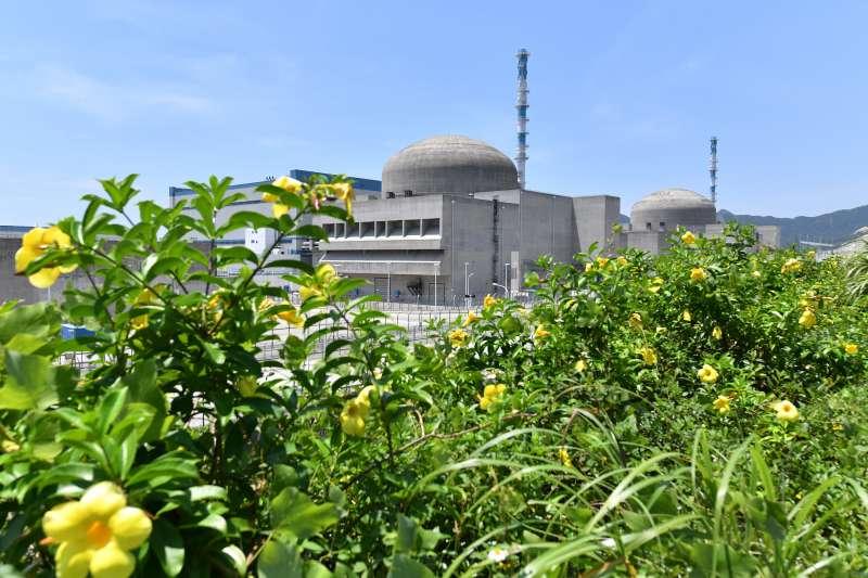 廣東省台山市赤溪鎮的台山核電站兩台單機容量為175萬千瓦的核電機組(新華社)