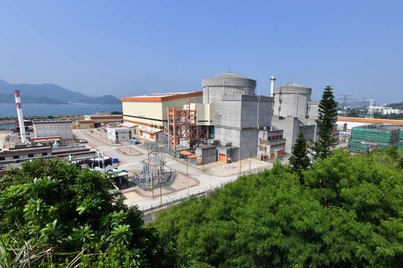 廣東深圳的大亞灣核電基地兩台機組。(新華社)