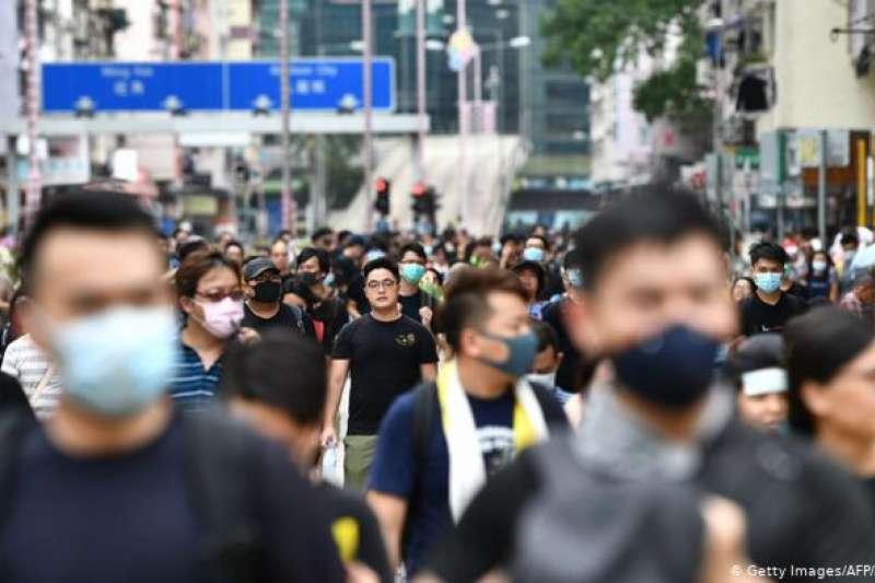 示威氣氛下的香港,商業活動跌至低谷。(德國之聲)