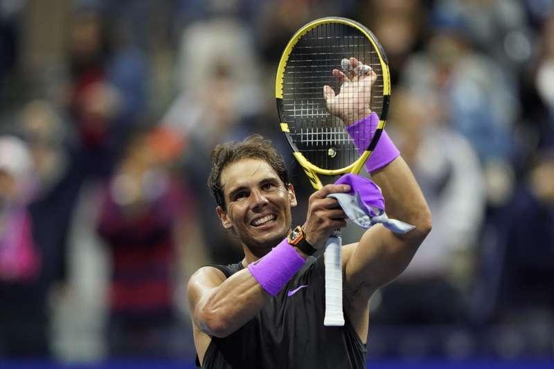 納達爾直落三盤,生涯第五度打進美網冠軍賽。(美聯社)