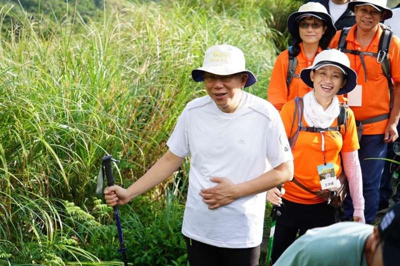 因一席指總統府秘書長陳菊是「比較胖的韓國瑜」,台北市長柯文哲(見圖)7日仍強調沒有失言。(台北市政府提供)