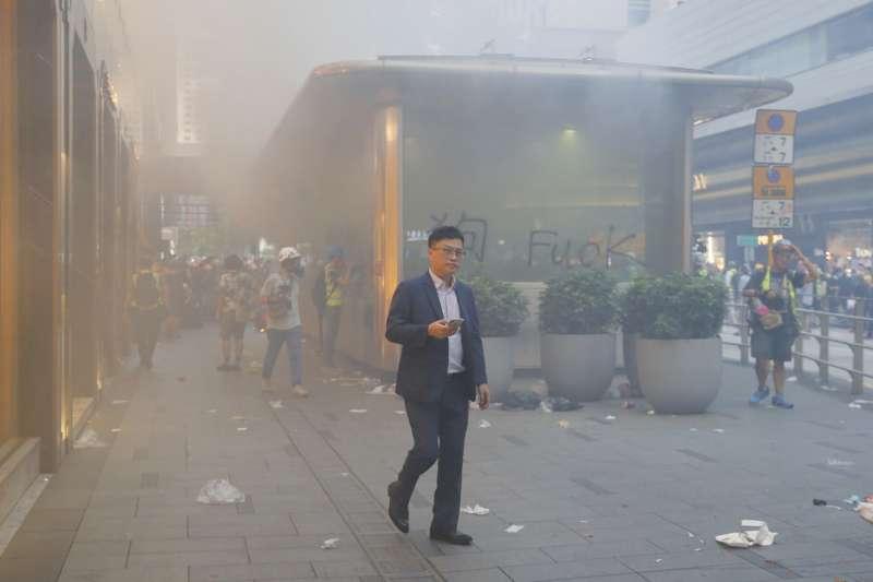 2019年9月8日,香港反送中示威(AP)
