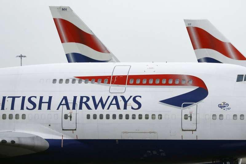 英國航空機師發起罷工。(美聯社)