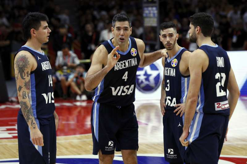 史柯拉的職業態度與紀律,讓他成為新一代阿根廷男籃的最佳典範。 (美聯社)