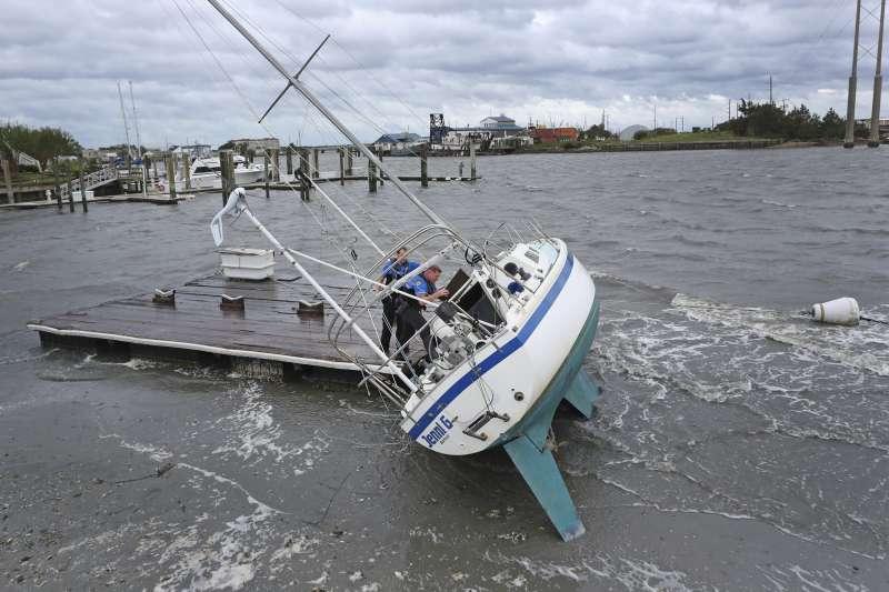 2019年9月,颶風多利安侵襲美國北卡羅來納州(AP)