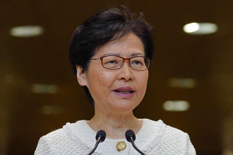 20190910,香港行政長官林鄭月娥10日上午召開記者會。(AP)