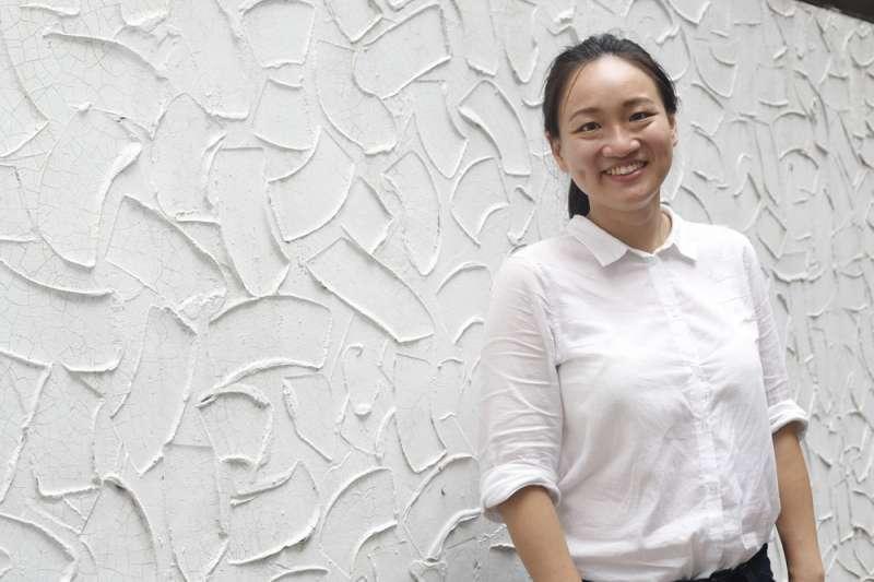 在留學過程,謝佩芬深深感受台灣的外交處境艱難。(郭晉瑋攝)