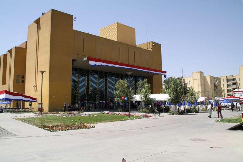 美國駐阿富汗首都喀布爾大使館。(圖/維基共享資源,版權屬公眾領域)