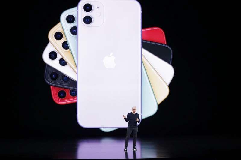 除了3鏡頭的iPhone 11 Pro,蘋果也有雙鏡頭的iPhone 11。(美聯社)