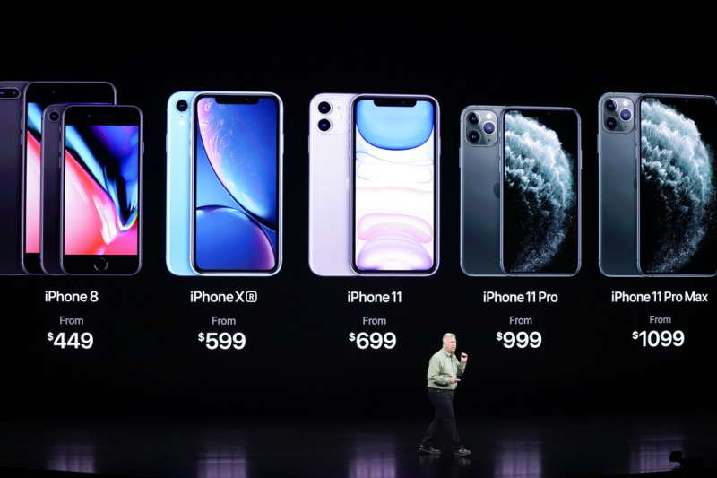 iPhone 11繼續維持蘋果的高貴定價策略,不過舊款iPhone也順勢調降售價。(美聯社)