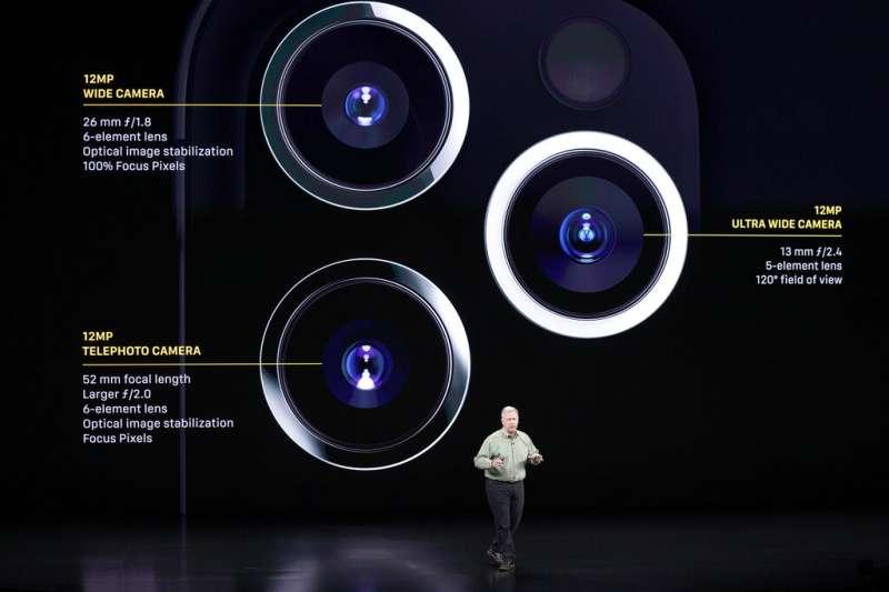 iPhone 11的三鏡頭:望遠、廣角、超廣角。(美聯社)