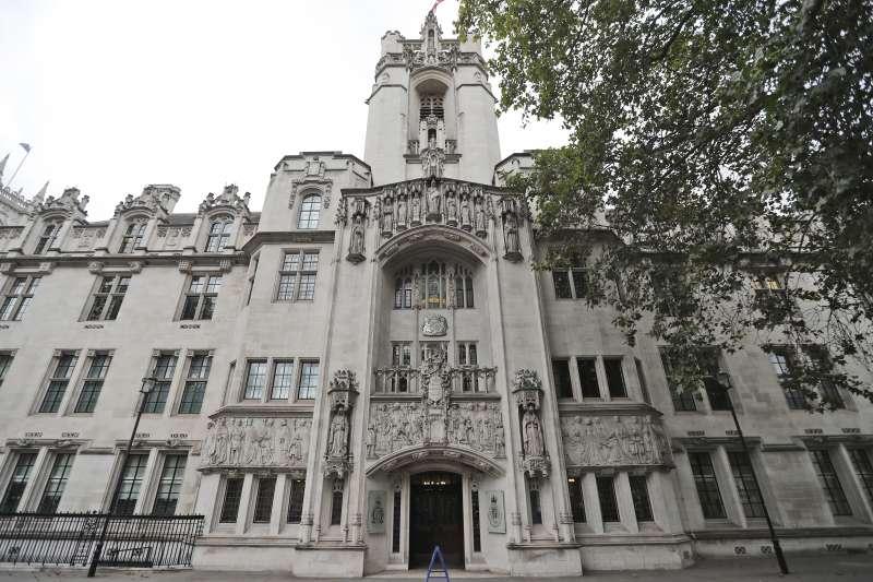 位於倫敦的英國最高法院(UK Supreme Court)(AP)