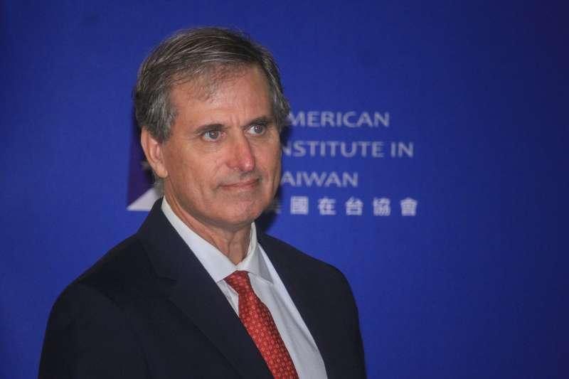 20190912-美國國務院副助卿巴斯比12日出席「美台印太區域民主治理諮商首屆會議」開幕記者會。(蔡親傑攝)