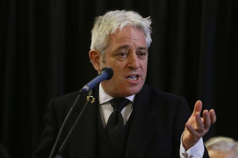 英國國會下議院議長貝爾考(John Bercow)(AP)