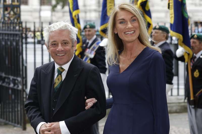 英國國會下議院議長貝爾考(John Bercow)與妻子莎莉(Sally)(AP)
