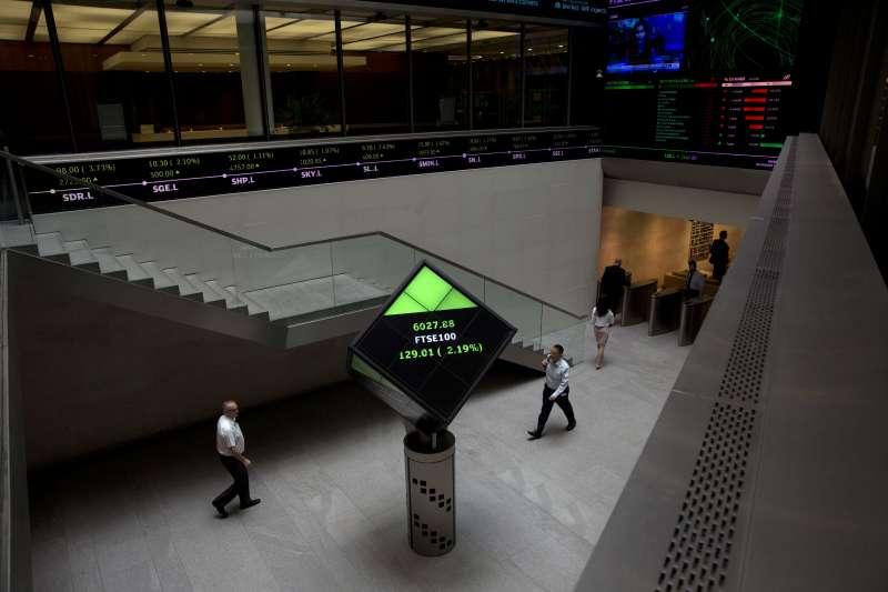 英國倫敦證券交易所(倫交所,London Stock Exchange)(AP)