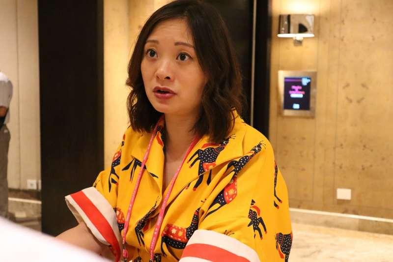 德國之聲記者陳嘉韻9月13日出席台北「奧斯陸自由論壇」。(王穎芝攝)