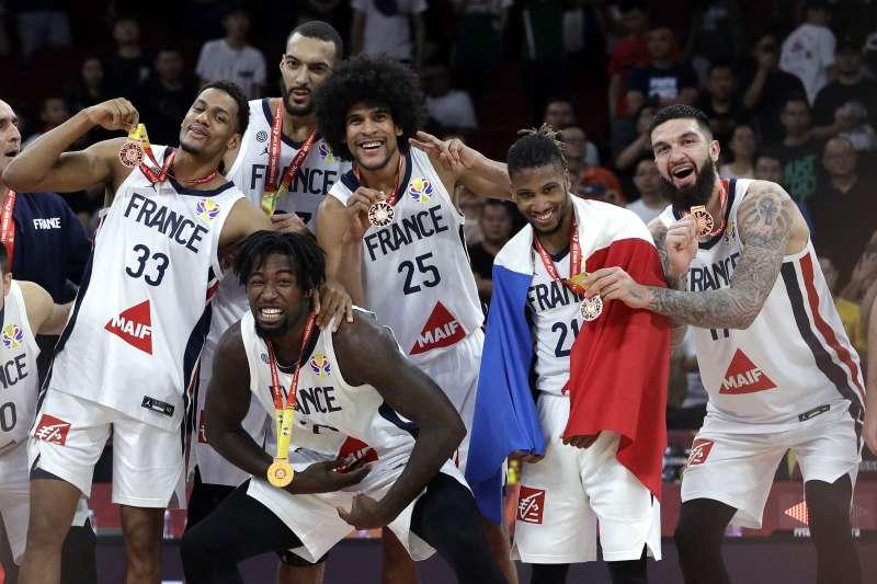 法國連續兩年在世界盃男籃奪下銅牌。 (美聯社)