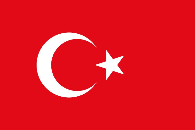 土耳其國旗。(作者提供,取自維基百科)