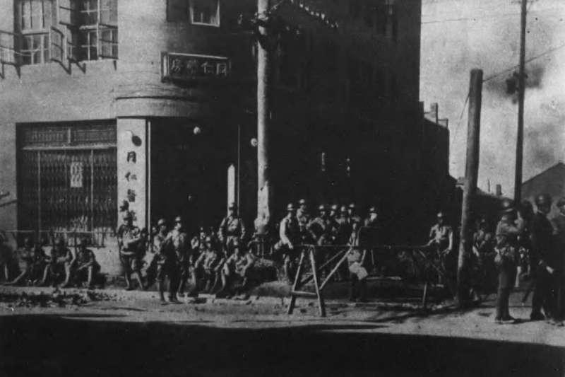 九一八事變,日本軍進佔奉天市(今瀋陽市)。(取自維基百科)