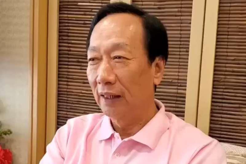 鴻海創辦人郭台銘決定不參與2020連署競選總統。(資料照,取自郭台銘臉書影片)