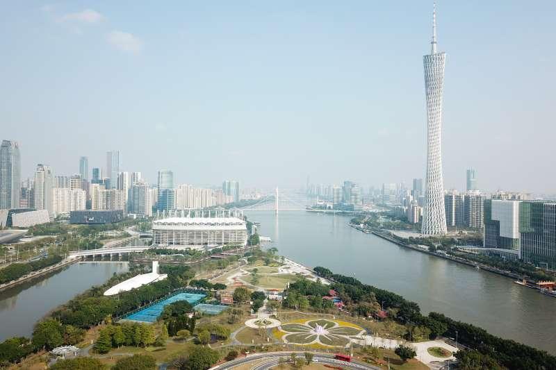 廣州珠江兩岸景觀。(新華社)