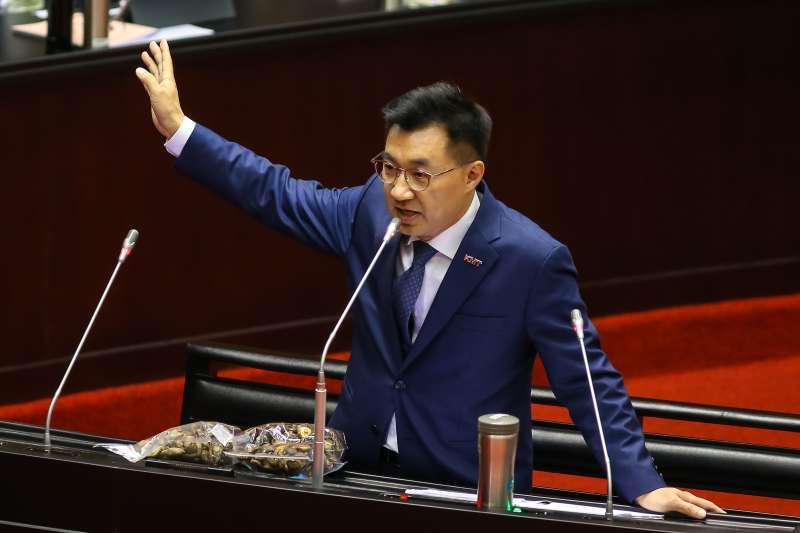 20190920-國民黨立委江啓臣20日於立院質詢。(顏麟宇攝)