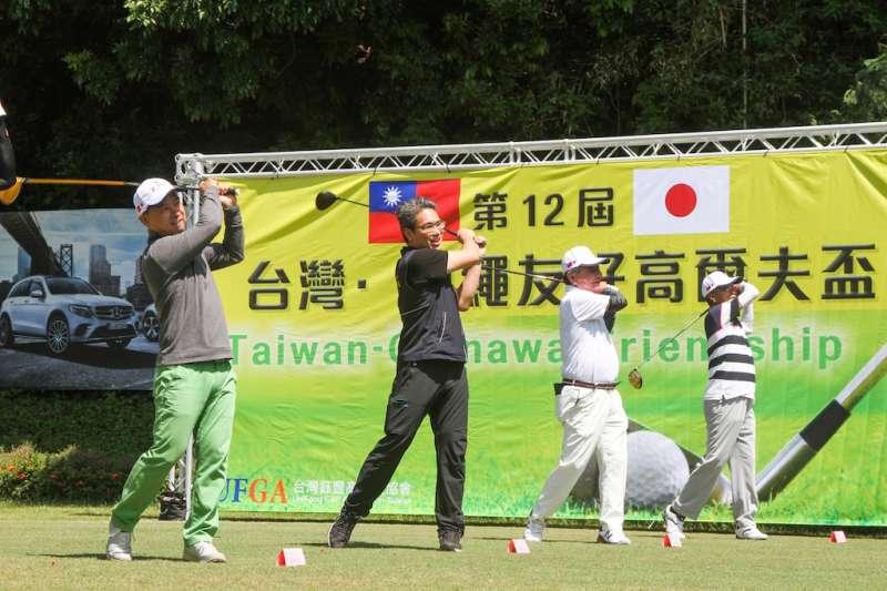 台灣與沖繩高爾夫盃友誼賽今年邁入第12屆,藉由運動風氣維繫台中市與沖繩縣友好關係。(圖/台中市政府提供)