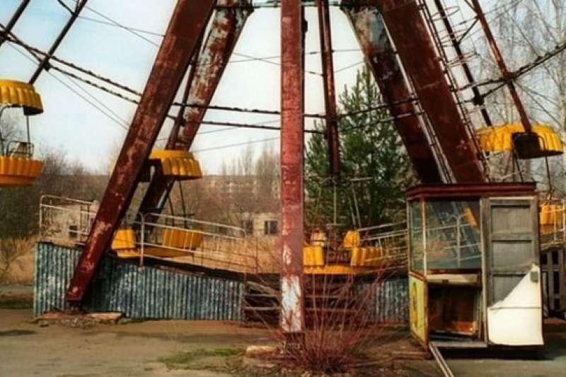 車諾比荒棄的遊樂場。(BBC中文網)