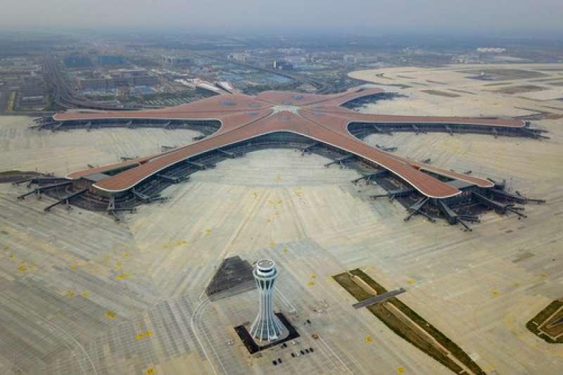 中國北京大興國際機場航站樓(新華社)
