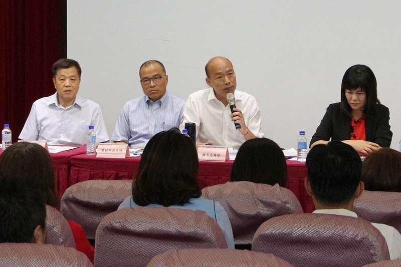20190923-高雄市長韓國瑜(左三)召開高雄議會109年總預算編列說明會。(高雄市政府提供)