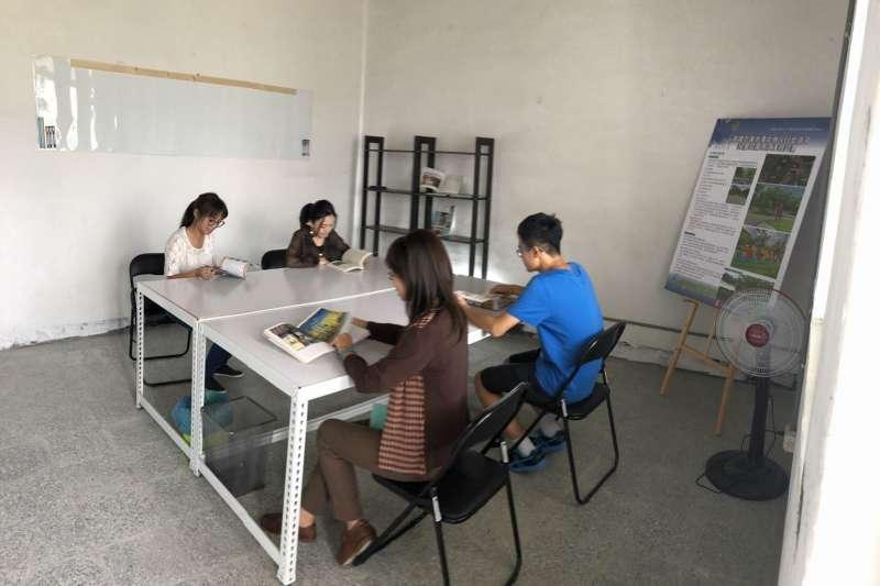 橫山共創基地提供集會活動場地、教學教室、成果作品展示、討論等各類空間。(圖/徐炳文攝)