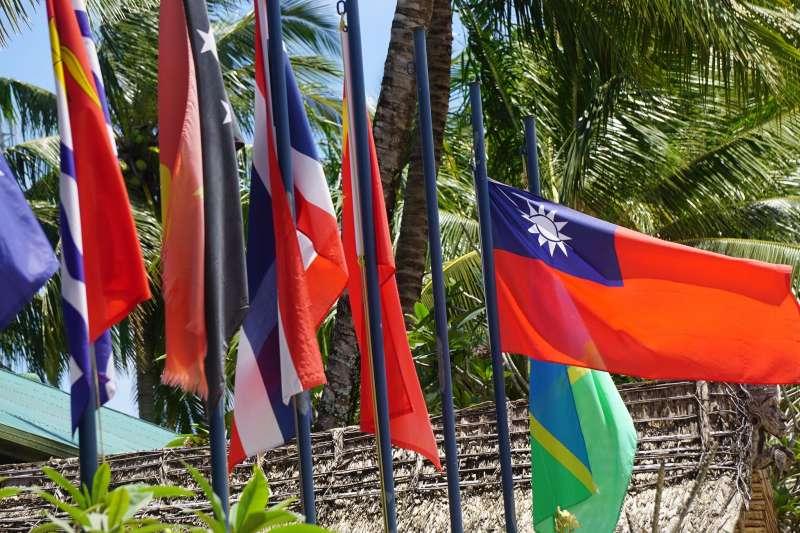中華民國國旗於索羅門群島。(圖/老黑)
