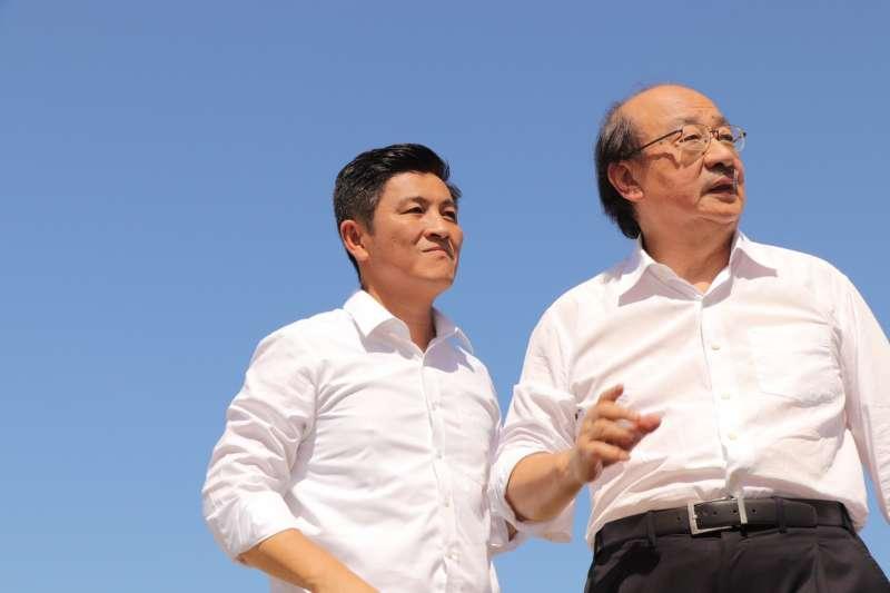 鄭宏輝的首支競選廣告主打「柯建銘推薦,新竹人最可靠的立法委員人選」。(圖/鄭宏輝提供)