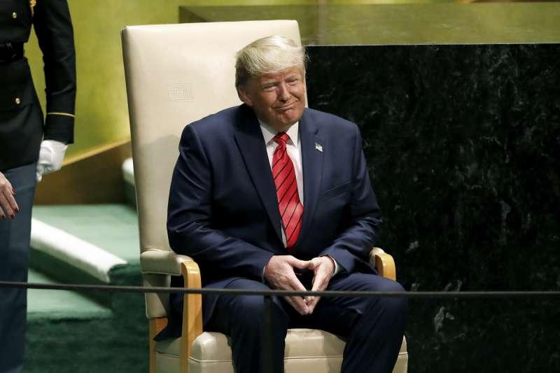 2019年9月24日,美國總統川普在聯合國大會發表演說。(AP)