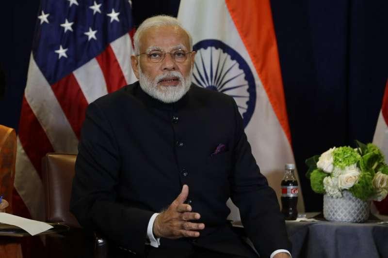 印度總理莫迪一項20兆盧比(新台幣約8兆元)的「印度自力更生」特別經濟計畫,希望印度多數產品都是自己製造生產。(美聯社)