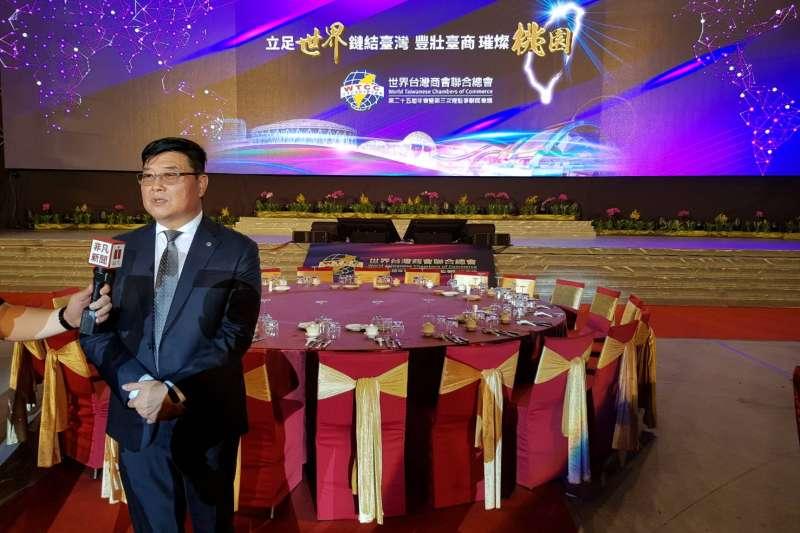 世界台商總會游萬豐會長致力拓展台灣經貿交流。(圖/世界台商聯合總會提供)