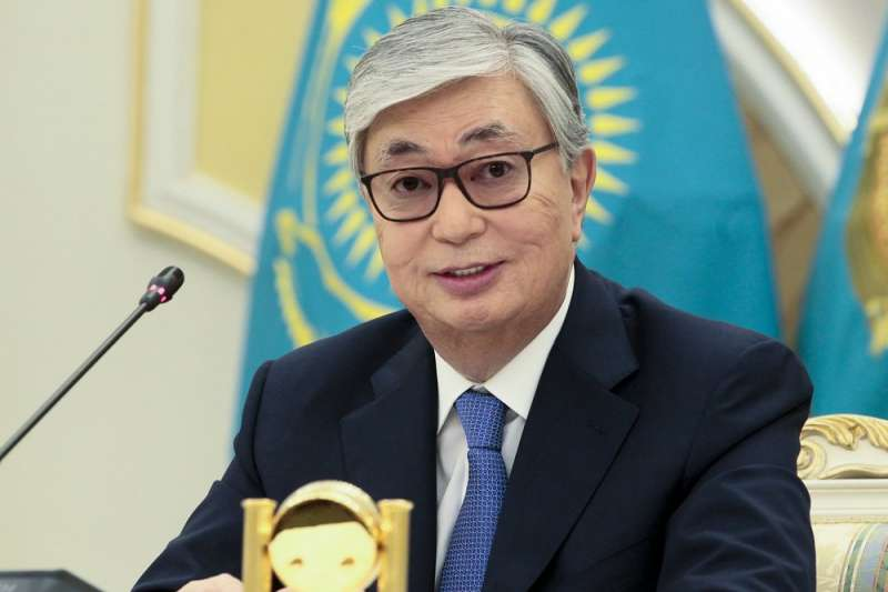 哈薩克總統托卡葉夫(Kassym-Jomart Tokayev)。(AP)