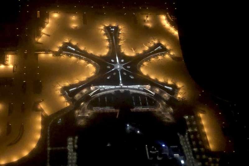 號稱「全球規模最大」的北京大興國際機場25日宣布正式啟用。(美聯社)