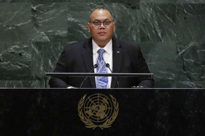 諾魯總統安格明挺台立場鮮明,26日強調諾魯與台灣近40年的緊密關係,他期待長久維持下去,並在聯合國大會為台灣發聲。(美聯社)