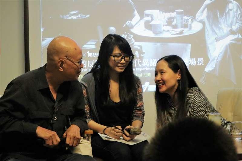 越南異議歌手杜阮玫瑰、厄戴27日晚間出席台北「流浪之歌音樂節」論壇,在自由的土地上坦露心聲。(蔡娪嫣攝)