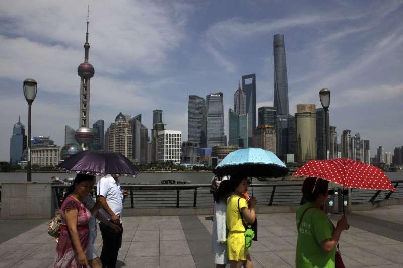 中國上海。(資料照,AP)