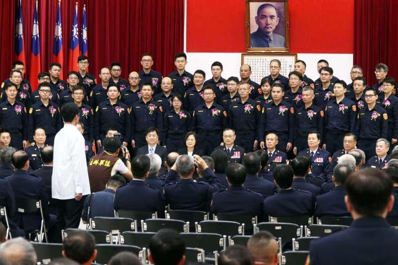 20191001-總統蔡英文1日出席年度績優交通警察、交通義警表揚大會。(蘇仲泓攝)