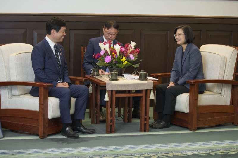 總統蔡英文2日接見日本自由民主黨眾議員大西宏幸訪問團。(取自總統府@Flickr)