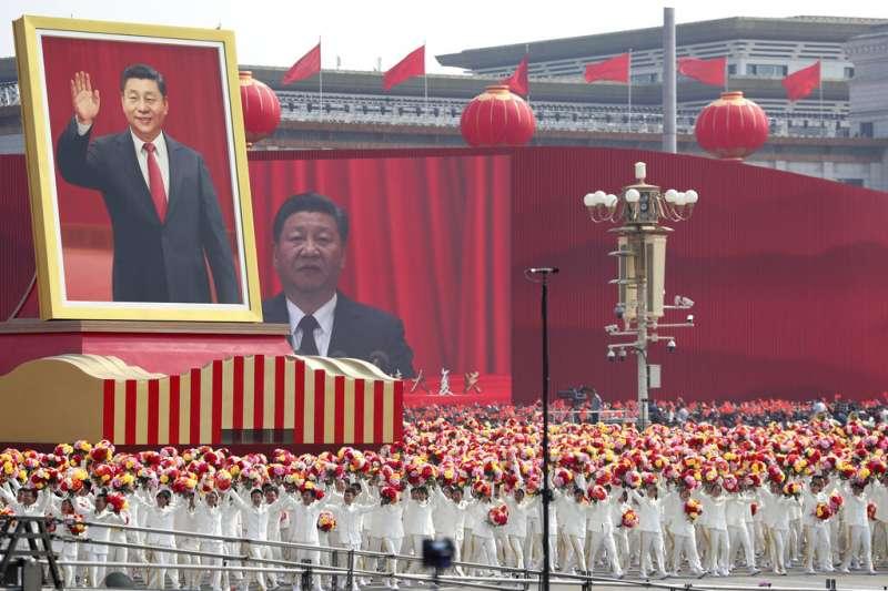 2019年,中國十一國慶的天安門大閱兵。(美聯社)