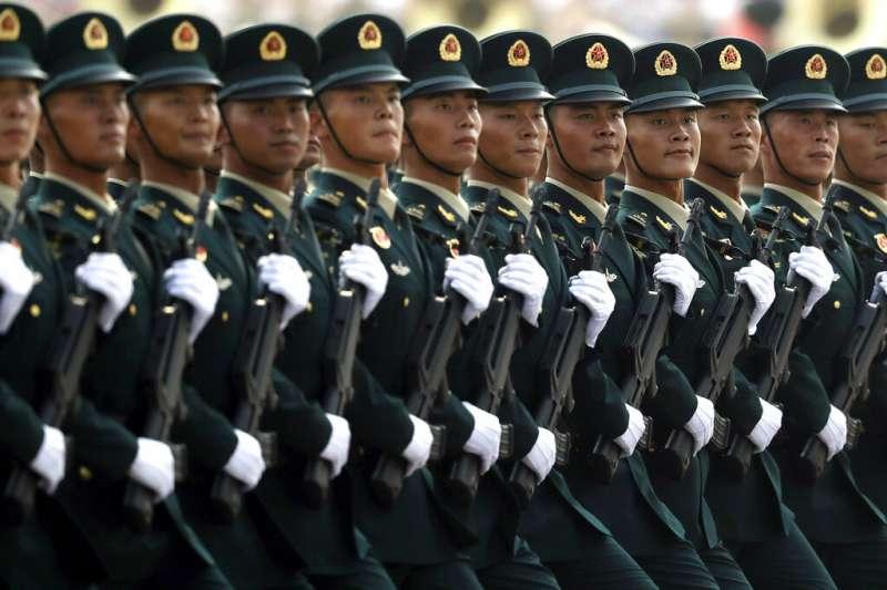 中國2019年的十一國慶大閱兵。(美聯社)