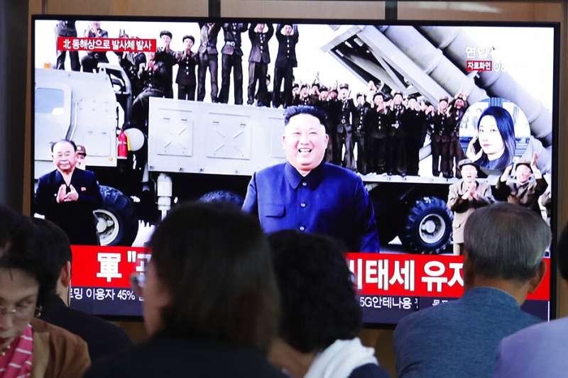 北韓10月2日再度試射飛彈。(美聯社)