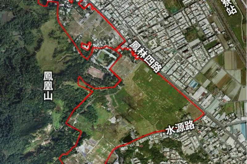 高雄市政府地政局第81期重劃區範圍空拍。(圖/高市府地政局提供)
